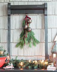 rustic front porch christmas decorating ideas