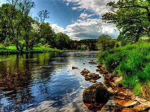 Rivers, England, Scenery, Bolton, Wharfe, Grass, Hdr, Nature, Wallpapers, And, Photos, Wallpapers13, Com