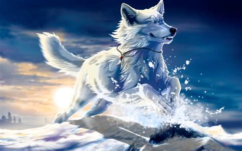 Anime Wolf Wallpaper - cool anime wolf wallpapers wallpapersafari