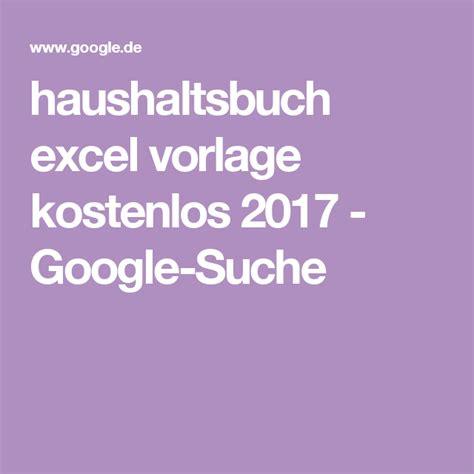 haushaltsbuch excel vorlage kostenlos  google suche