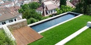 Schmaler Garten. schmaler garten mit pool und sonnenliegen moderner ...