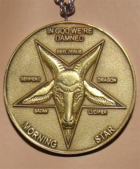 LUCIFER MORNING STAR COIN NECKLACE PENDANT SATANIC WORSHIP