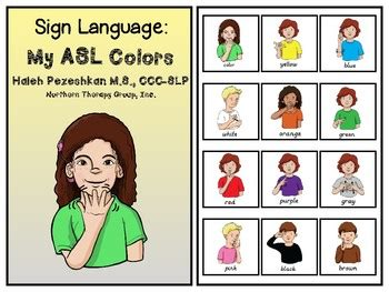sign language for colors sign language my asl colors interactive book and