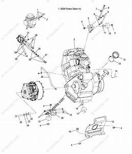 Polaris Atv 2005 Oem Parts Diagram For Engine Mounting   Ab