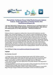 Pharmapoint parkinsons disease global market research ...