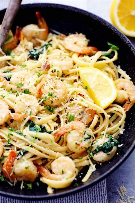shrimp pasta recipes lemon garlic parmesan shrimp pasta the recipe critic