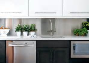 kitchen backsplash stainless steel white lacquer cabinets design ideas