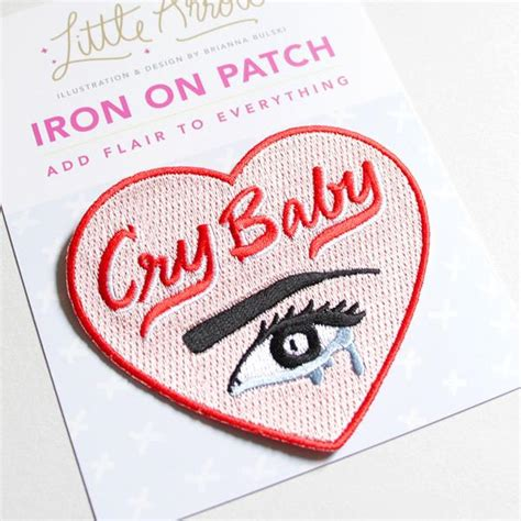 cry baby heart patch  arrow