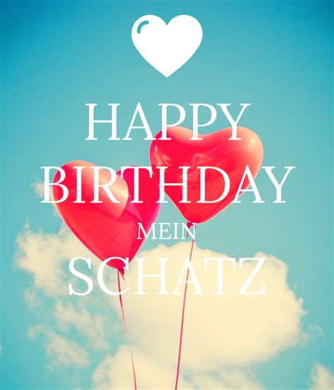 happy birthday mein schatz poster keep calm o matic