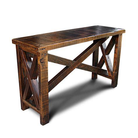 barn wood sofa table amish reclaimed barn wood sofa table with tapered shaker legs thesofa - Wooden Sofa Table