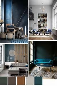 Trend Wandfarbe 2017 : blue color trend in home decor 2016 2017 interior pinterest wandfarbe farben und wohnzimmer ~ Markanthonyermac.com Haus und Dekorationen