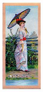 vintage clip with parasol the