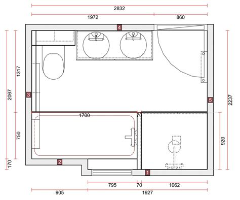 plan chambre salle de bain idee salle de bain 5m2 3 salle de bain et