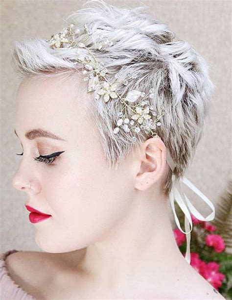 Pixie Hairstyles For Wedding by Headband With A Pixie Hair Don T Care In 2019