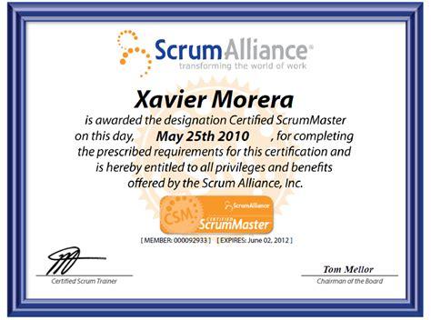 Certified Scrum Master Sle Resume by Xavier Morera 187 Certifications Resume