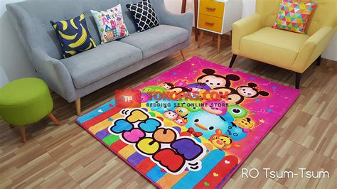 karpet karakter selimut bulu lembut kartun bunga