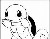 Squirtle Coloring sketch template