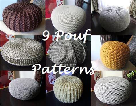 knitted pouf pattern free crochet pattern knitting pattern 9 knitted crochet pouf