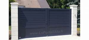 Brise Vue En Alu : portail aluminium 1 tiers 2 tiers brise vue 2 vantaux persienne leportaialu ~ Melissatoandfro.com Idées de Décoration