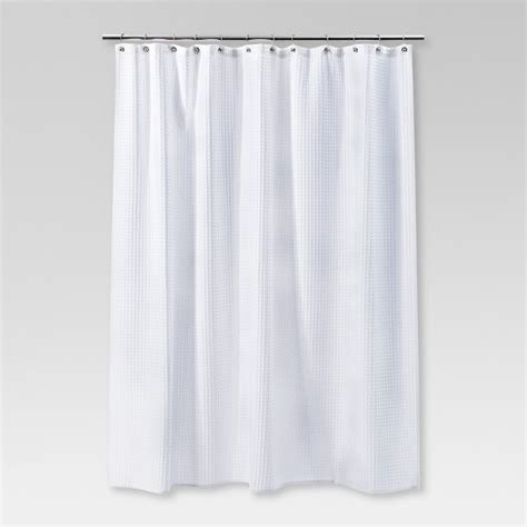 shower curtains target waffle weave shower curtain white threshold target