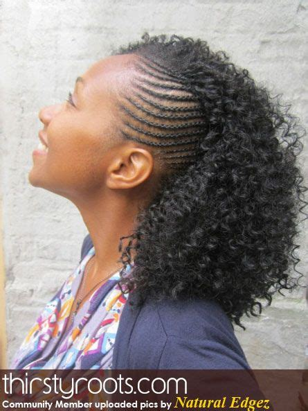 Cornrows And Curls Hairstyles by Twists Hairstyles And Hair On