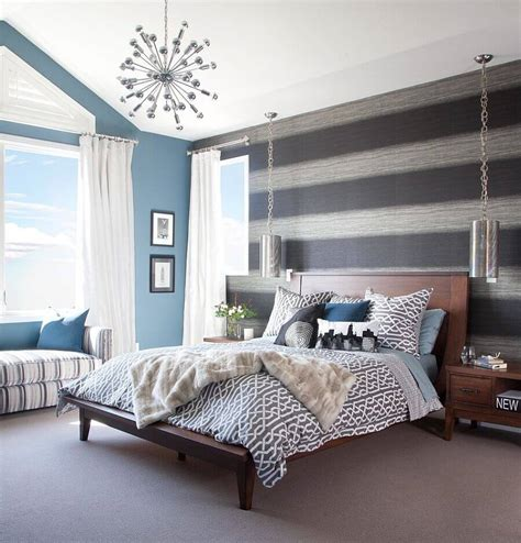 9 Bedroom Design Ideas With Striped Walls Interiorideanet