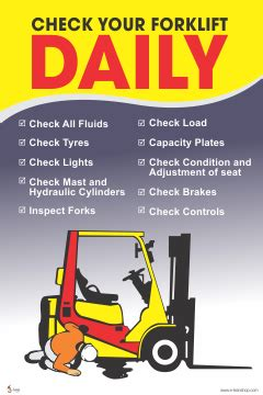 forklift safety posters  rs  image safety poster