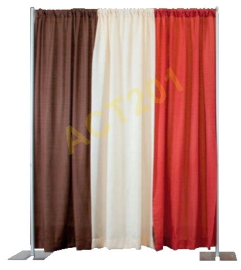 pipe drapes 8 ft high x 10 ft wide pipe and drape kit with economy