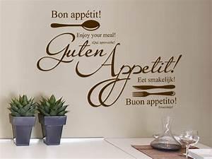 Wandtattoo Küche Bilder : wandtattoo guten appetit mit besteck bei ~ Markanthonyermac.com Haus und Dekorationen