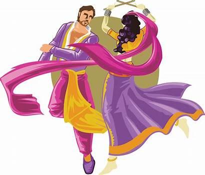 Garba Clipart Folk Dandiya Dance Indian Cartoon