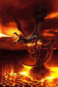 Lava Dragon breathing fire | Legends & Myths | Pinterest ...