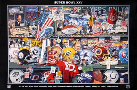 Super Bowl Xxv January 27 1991 Official Theme Art Event