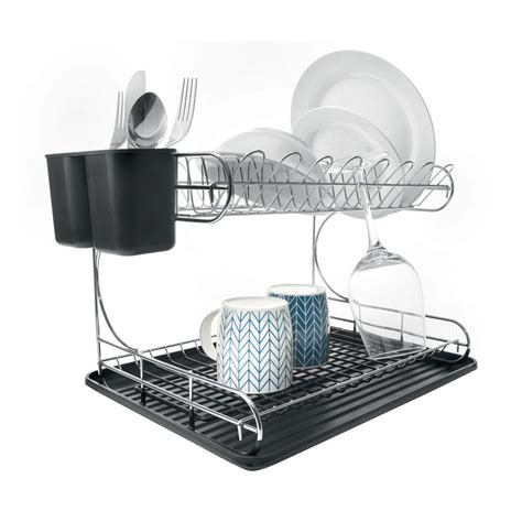 two tier dish rack 2 tier chrome dish rack kmart