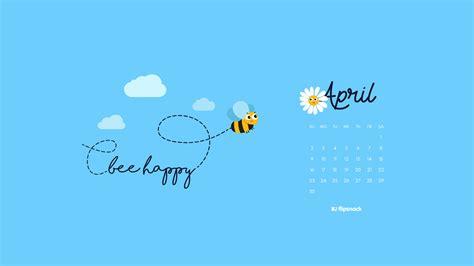 freebie april  wallpaper calendar desktop background