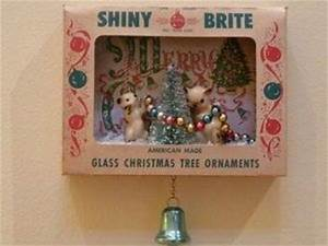 Vintage Christmas Shiny Brite Ornament Shadow Box on ebay