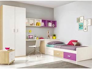 Chambre ado design multicolore avec lit 3 coffres for Amenagement chambre ado avec home prestige matelas