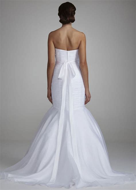 Draped Wedding Dresses - sle strapless organza fitted wedding dress with draped