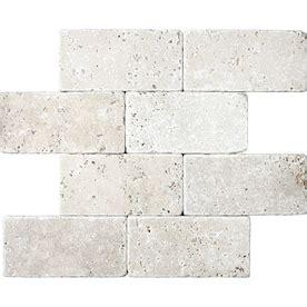 trowel size for 3 x 6 tumbled marble chiaro travertine