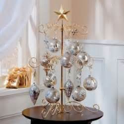 metal scroll 24 ornament display tree gold color w glass ornaments ebay