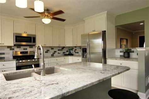 white aspen cabinets thunder white granite custom