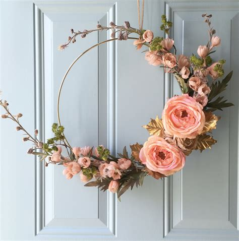 diy gold hoop fall inspired wreath restyle it wright