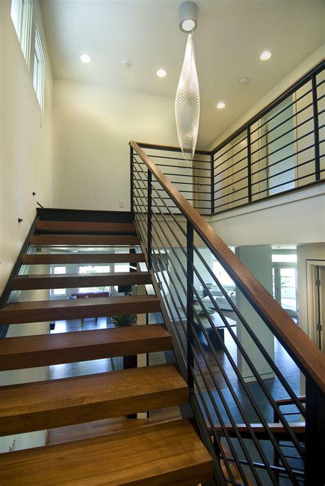 modern stair railings staircase modern  ceiling