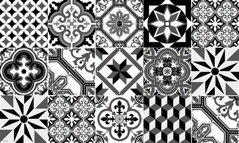 tapis vinyle carreaux de ciment ginette noir