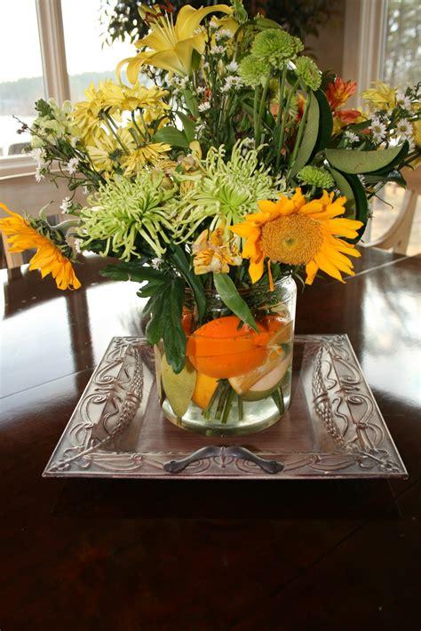 everyday entertaining flower arrangements  fruit