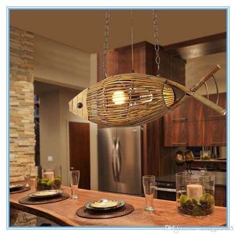 Light Living Lenschirm by Creative Crafted Bamboo Fish Led E27 Pendant Lights