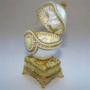 Boite A Oeufs Originale : boite bijoux oeuf musical en coquille avec cam e inspiration faberge ~ Nature-et-papiers.com Idées de Décoration