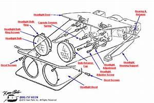 1979 Corvette Headlight  U0026 Bezel Parts