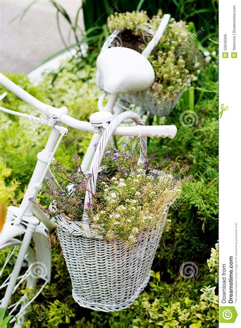 Used Garden Decoration by Bicycle Ideas For Gardening Stock Photo Image 55646366