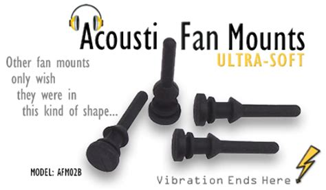 noctua rubber fan mounts acousti ultra soft flush fit silicone fan mounts afm02b