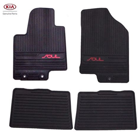 weathertech floor mats kia soul 2010 2013 kia soul all weather floor mats oem heavy duty complete red zone set ebay